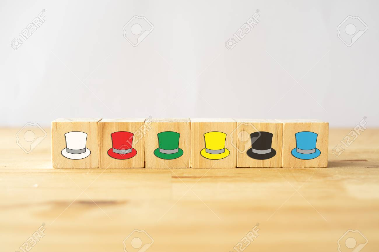 Six Thinking Hats Concept The Success Way To Under The Human Wear Which Hat When