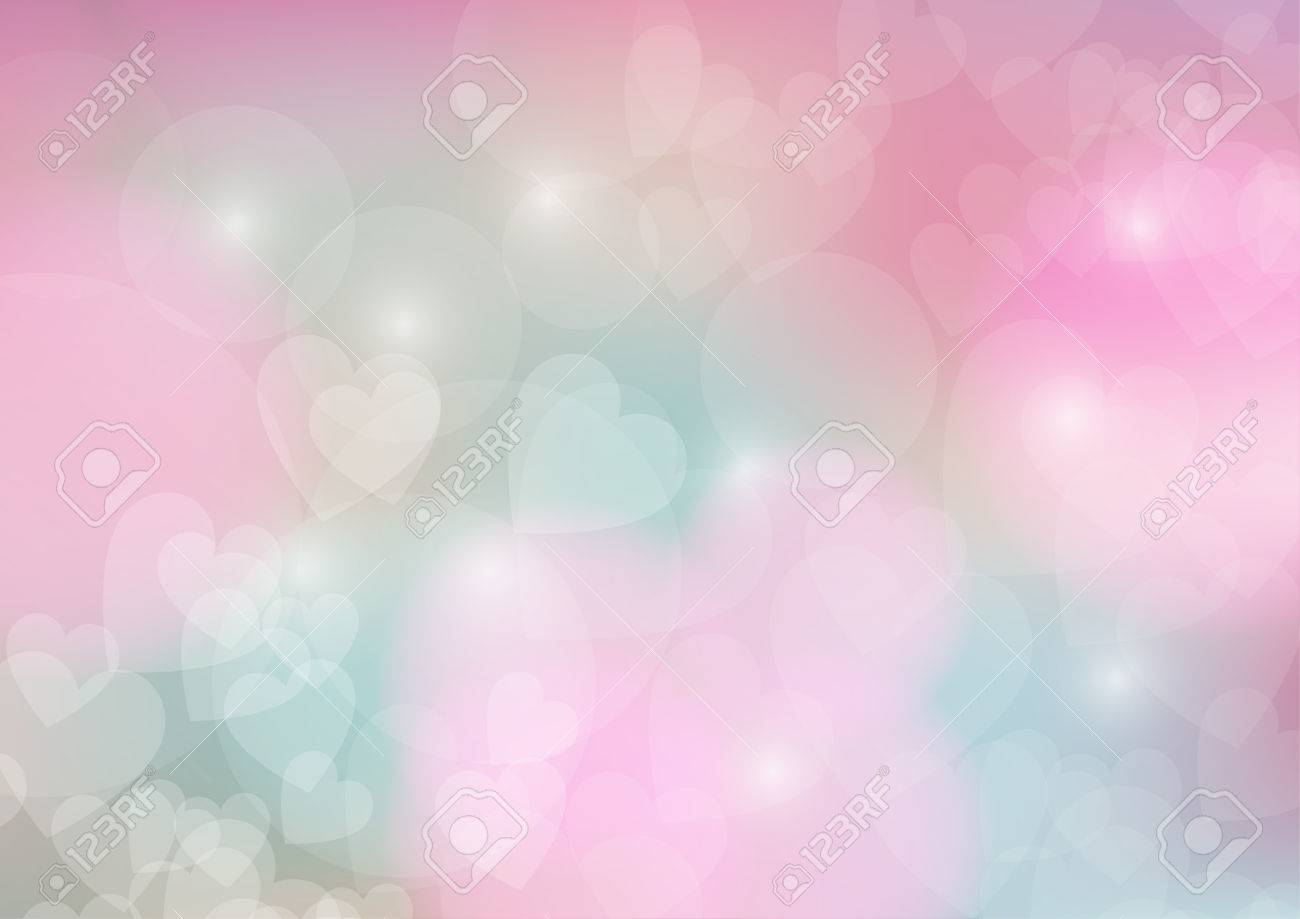Valentines Day Wallpaper Heart Holiday Backdrop Valentine Hearts Abstract Pink Background Stock Vector