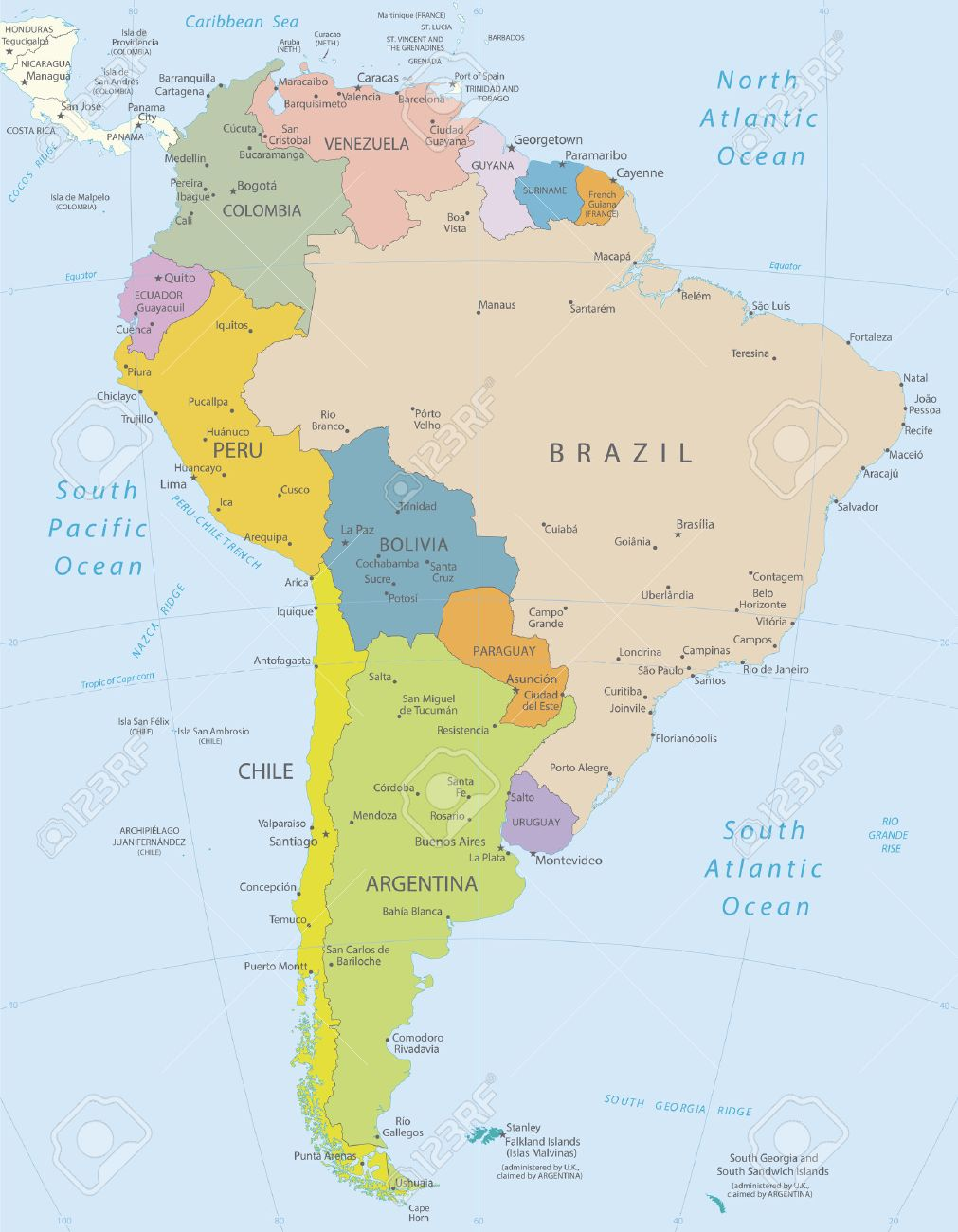South America-highly detailed map All elements are separated.. on all the states of america, all japan map, all colonies map, all america list, all asia map, all europe map, all european countries map, all america cities, all mountains map, all constellation map, all us national parks map, american map, all the continents map, all alabama map, all states map,