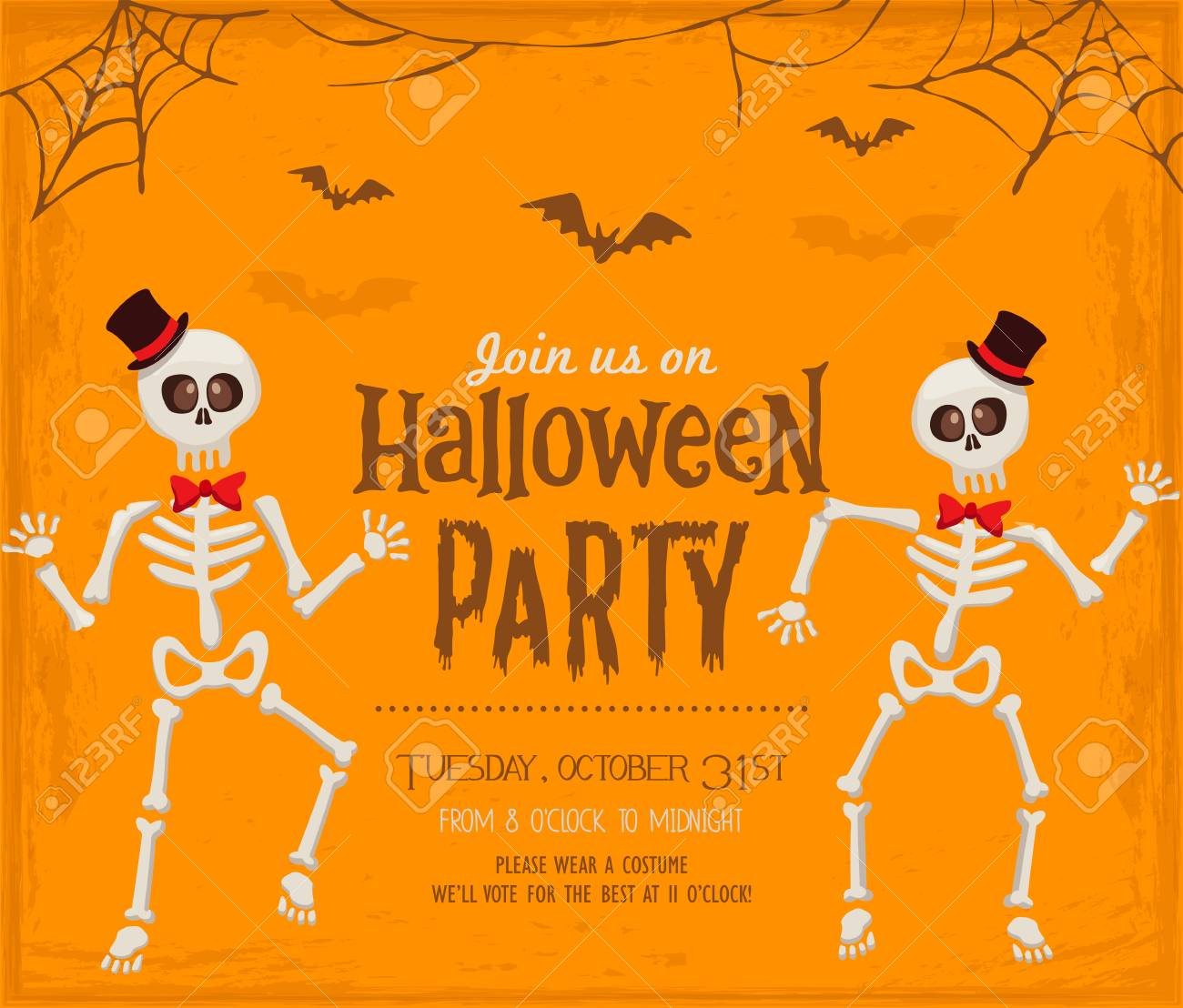 Halloween Party Invitation Card Royalty Free Cliparts Vectors