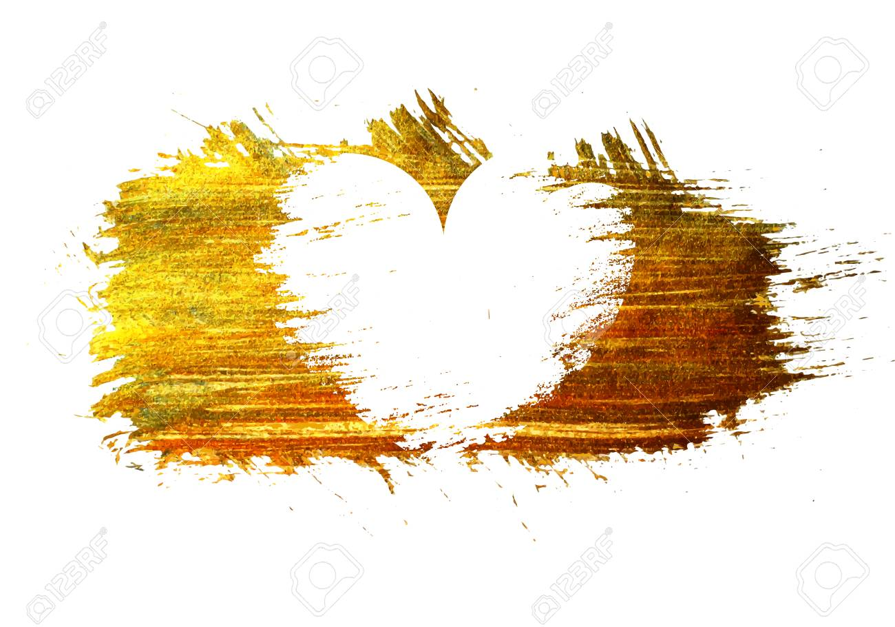 White Heart On A Gold Stain Background Design Element For Valentine Royalty Free Cliparts Vectors And Stock Illustration Image 50737848