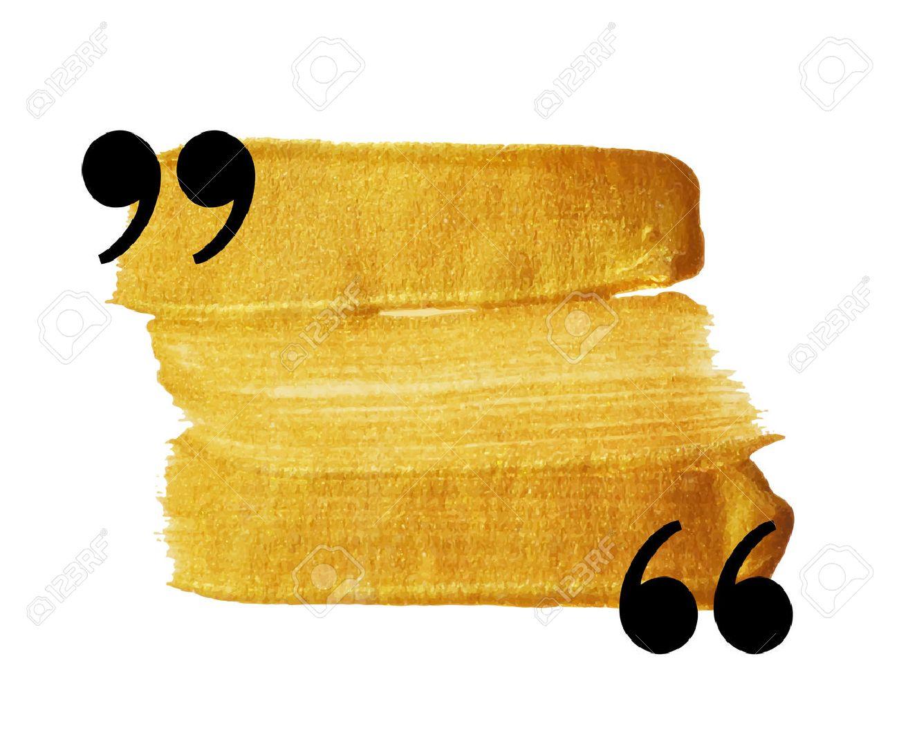 Gold-Fleck Anführungszeichen Sprechblase. Leere Zitat Leere Zitat ...