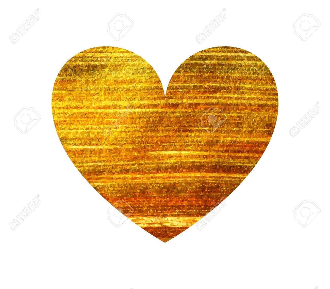 Gold heart on a white background design element for valentine vector gold heart on a white background design element for valentine day card banner wedding invitation postcard vector illustration stopboris Choice Image
