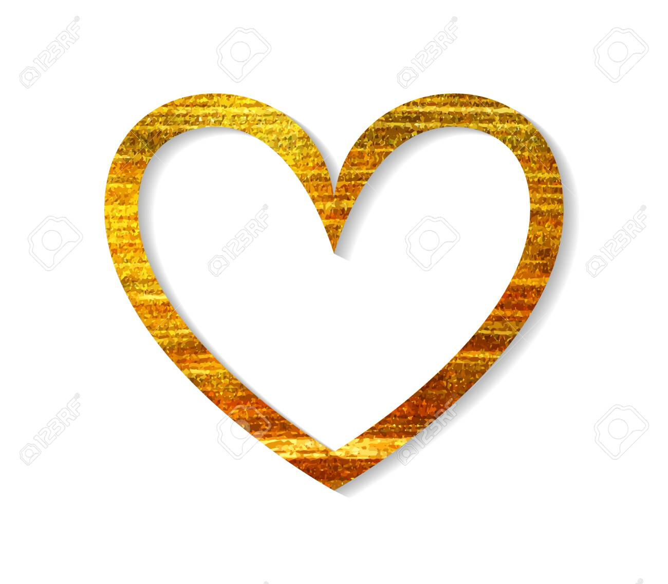 Gold heart frame on a white background design element for valentine vector gold heart frame on a white background design element for valentine day card banner wedding invitation postcard vector illustration stopboris Image collections