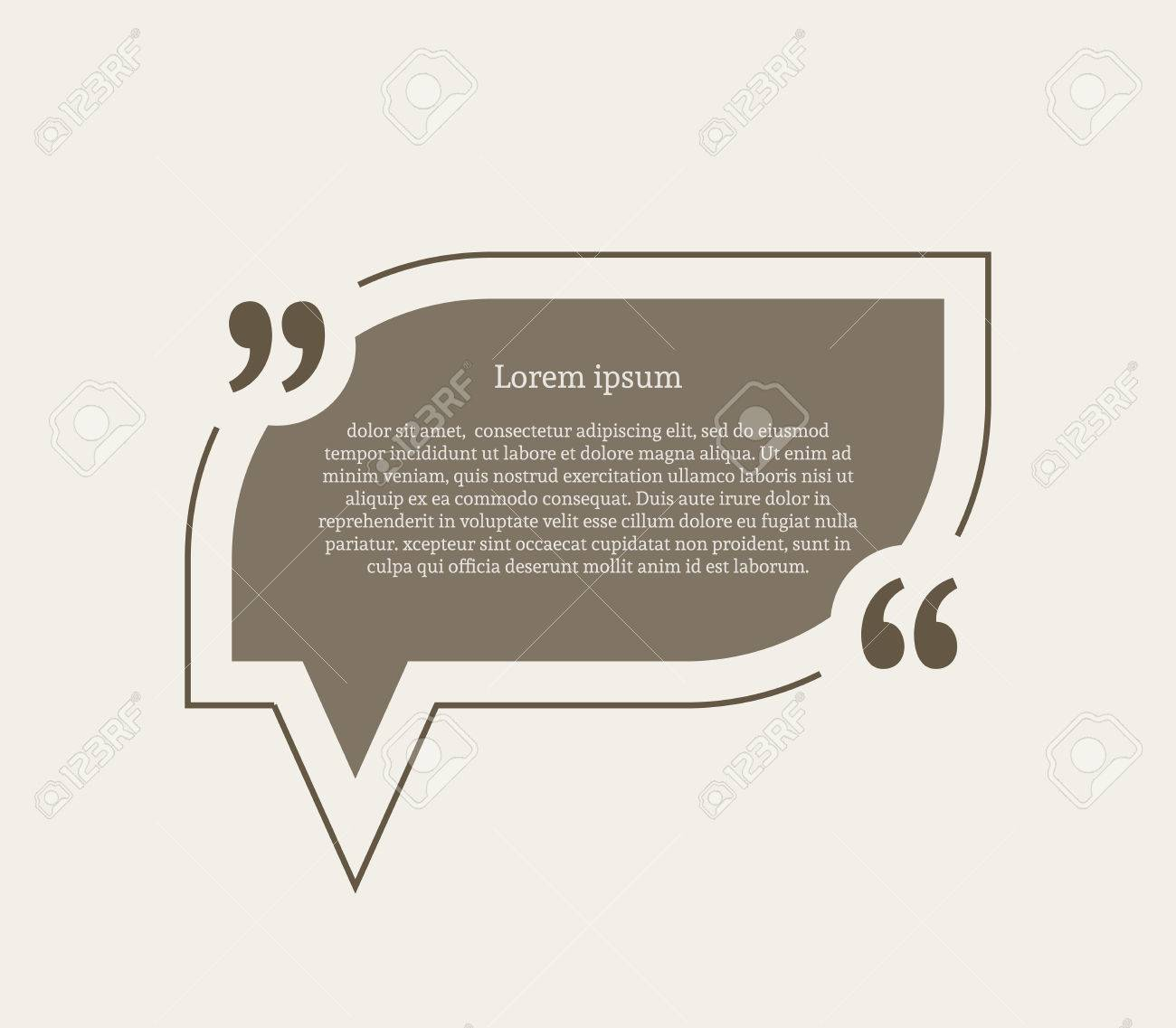Quotation mark speech bubble empty quote blank citation template quotation mark speech bubble empty quote blank citation template rounded rectangle design element for reheart Images