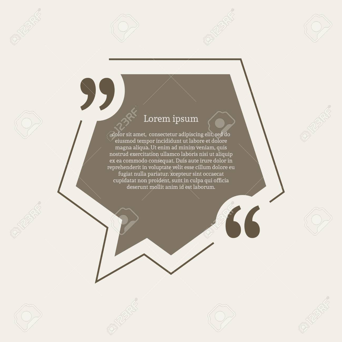 Quotation mark speech bubble empty quote blank citation template quotation mark speech bubble empty quote blank citation template pentagon design element for business reheart Images
