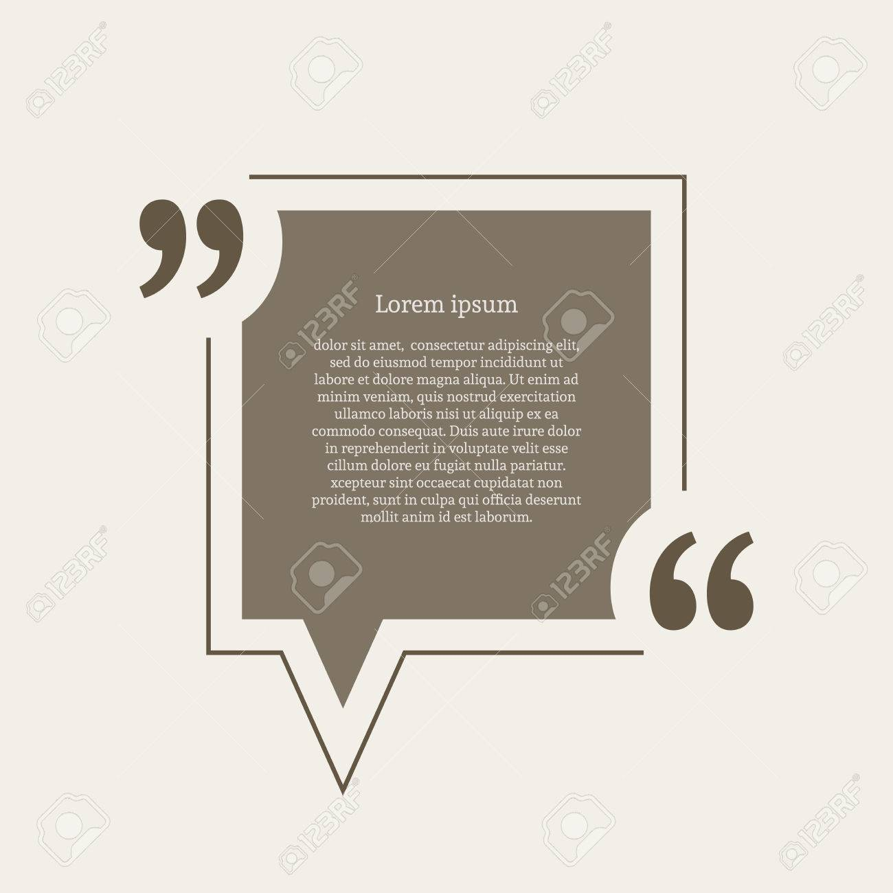 Quotation mark speech bubble empty quote blank citation template quotation mark speech bubble empty quote blank citation template square design element for business reheart Images