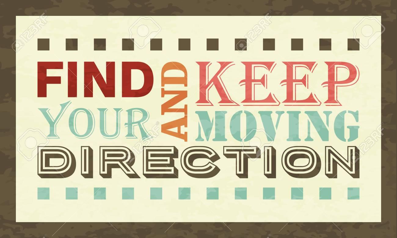 Encontrar Su Dirección Y Mantenerse En Movimiento Cartel Inspiración ...