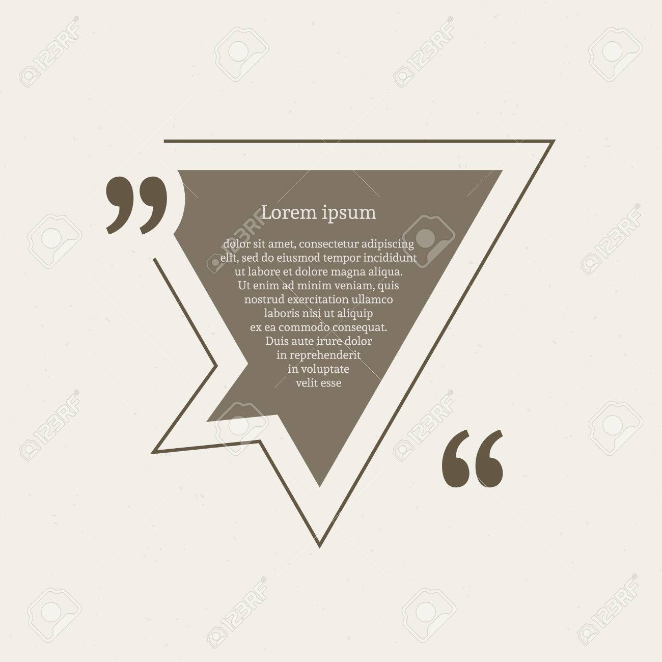Quotation mark speech bubble empty quote blank citation template quotation mark speech bubble empty quote blank citation template triangle design element for business reheart Images