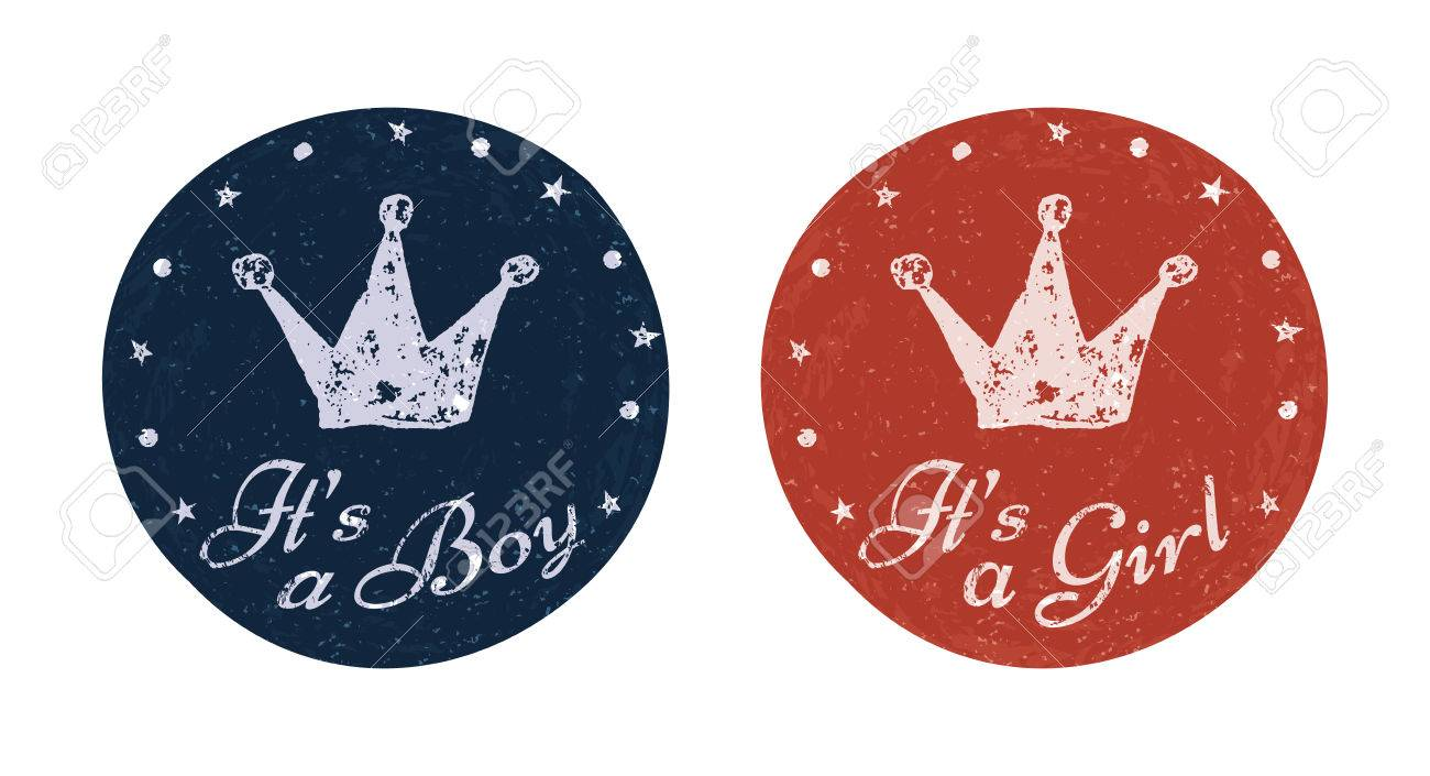 its a boy and its a girl labels for banner scrapbook greeting