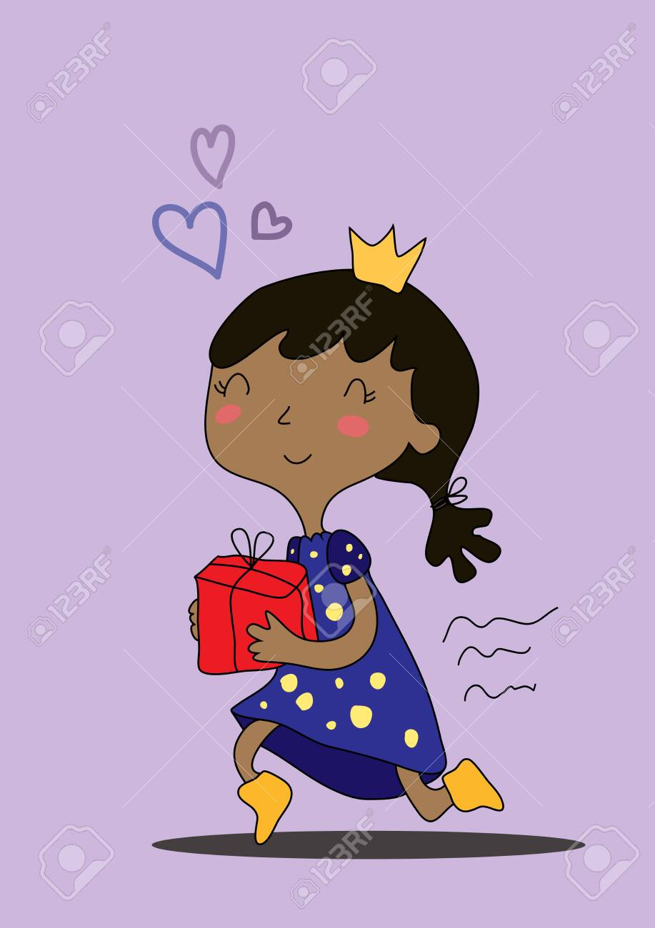 Vector Drawn Cute Cartoon Black Girl With A Crown On Her Head Royalty Free Cliparts Vectors And Stock Illustration Image 136375748 The copper crown is obtained when sora acquires his first proof, and as he gains more proofs, it is upgraded to the silver crown, and then gold crown. vector drawn cute cartoon black girl with a crown on her head