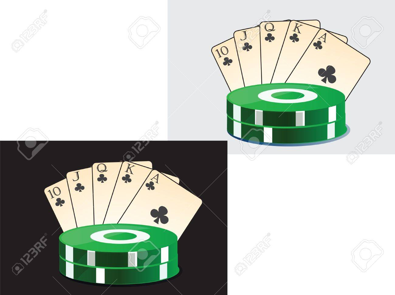 Vector illustration of the image of playing cards and chips casino Stock Vector - 18991365