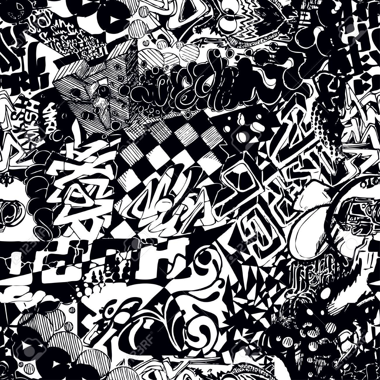 Graffiti A Black And White