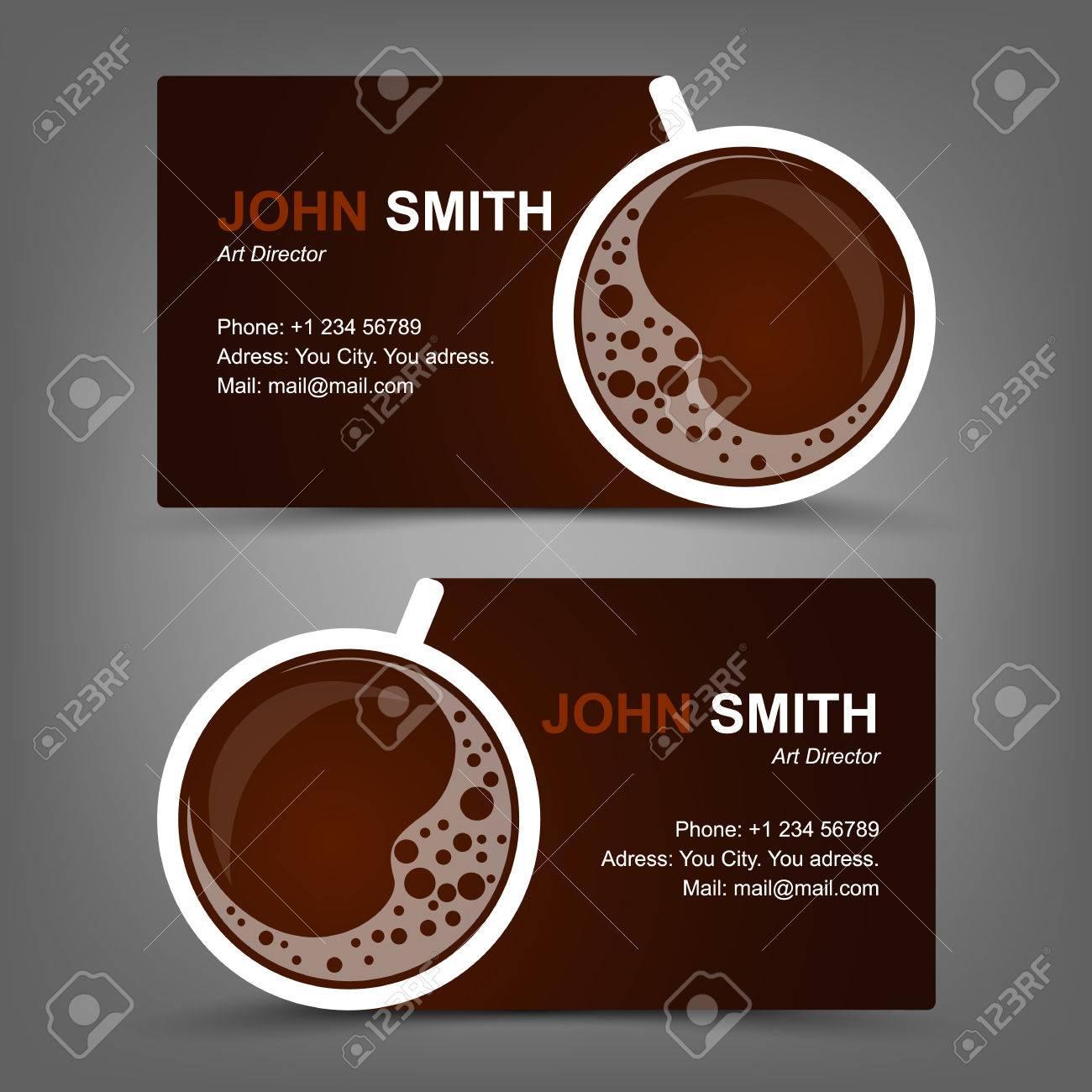 Business card coffee - 27335601