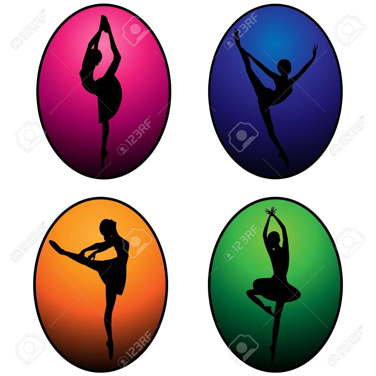 vector set of ballet dancers - 16791795