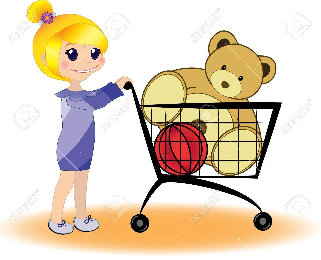 Little girl shopping - 17006162