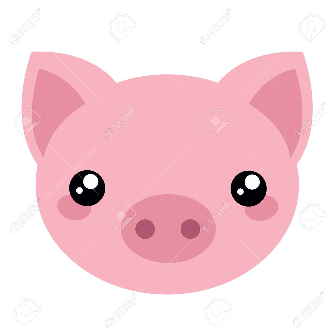 cartoon pig face royalty free cliparts vectors and stock