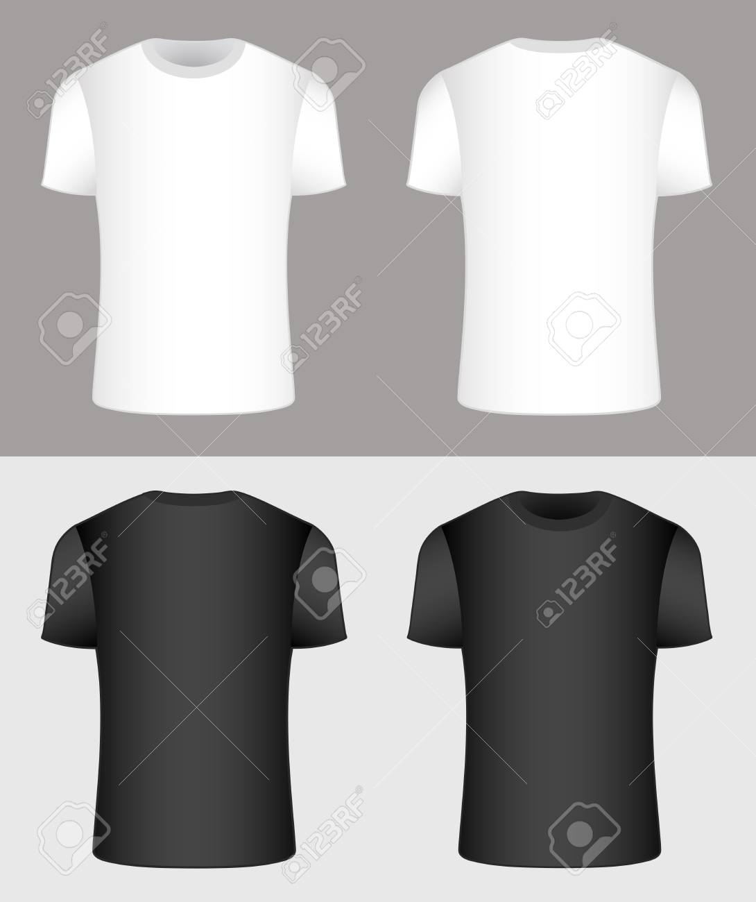 T-shirt. Black and white. Vector - 69112468