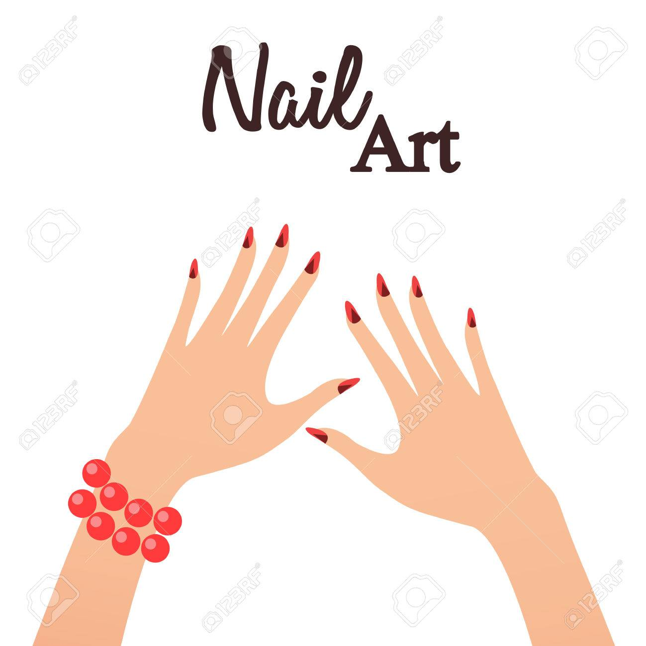Nail Art Studio. Vector Illustration Royalty Free Cliparts, Vectors ...