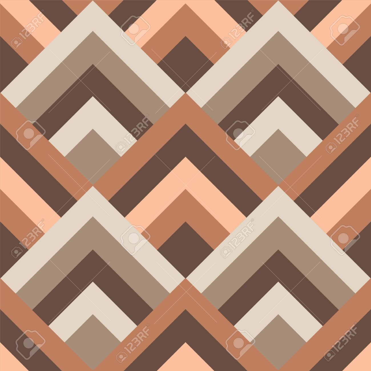Boho style seamless vector pattern. Brown colors - 143742184