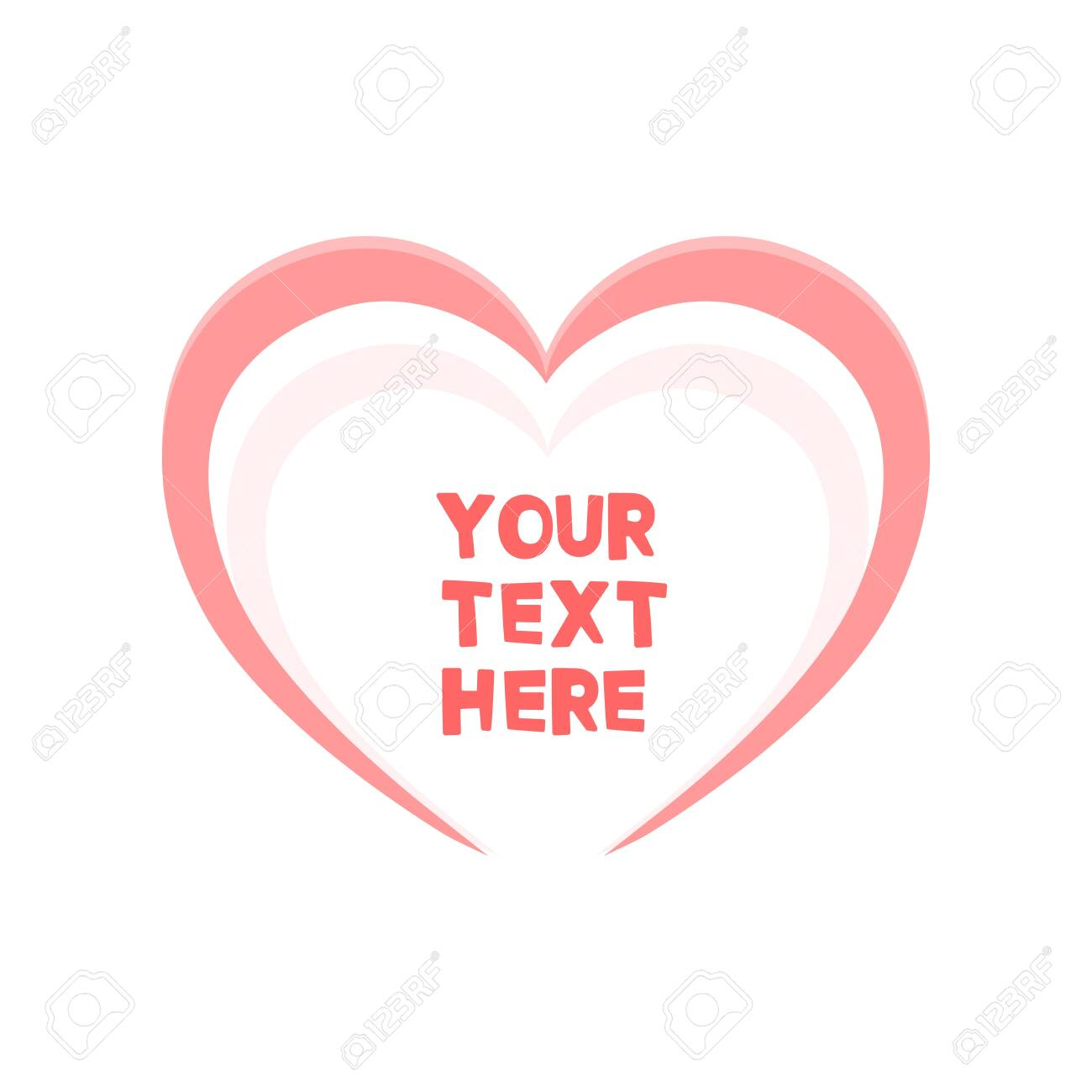 Cute heart frame for your text. Vector illustration - 143742185