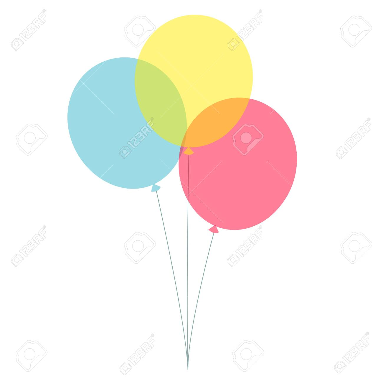 Party balloons simple vector illustration isolated on white background - 144891305