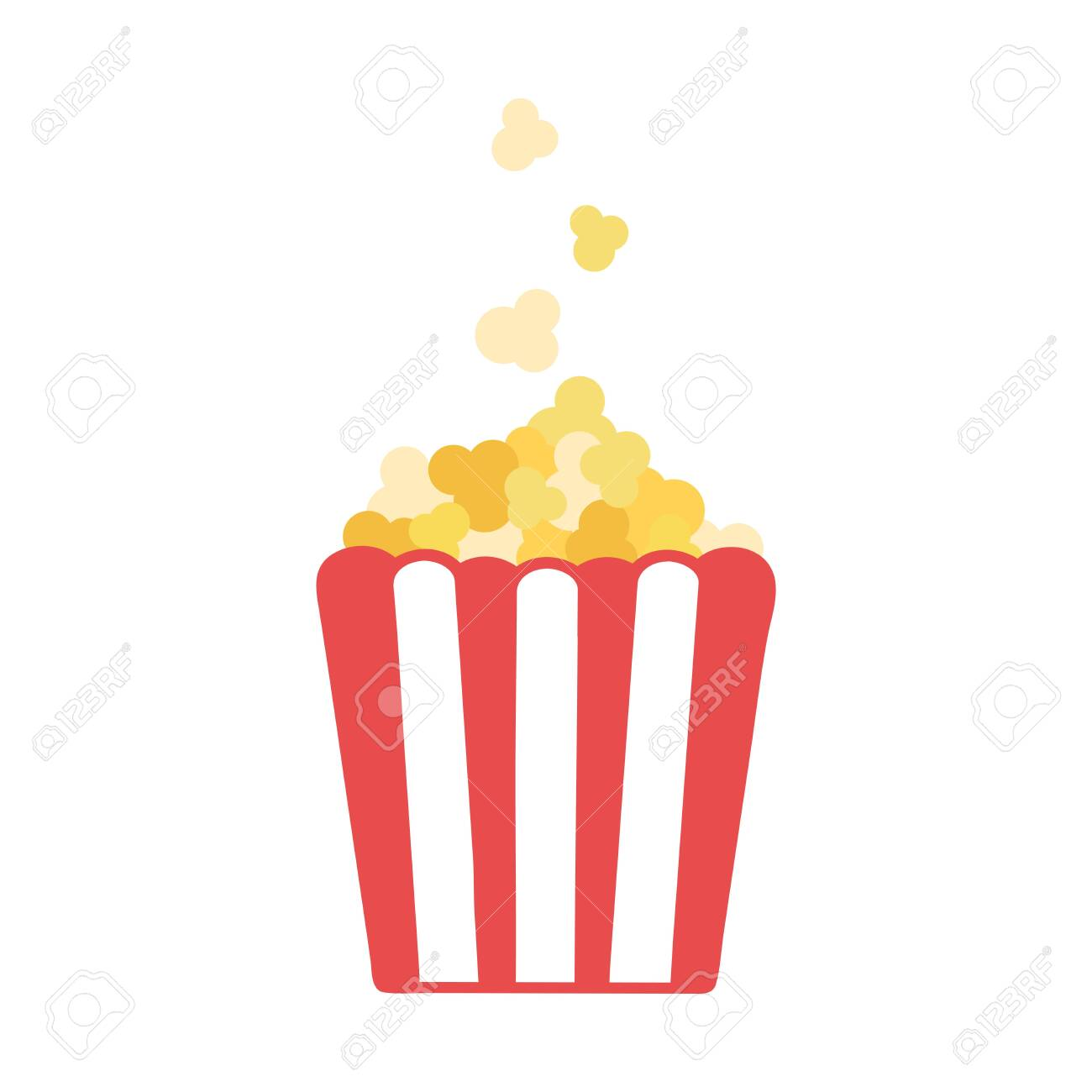 Popcorn. Vector illustration in flat style isolated on white background - 145027561