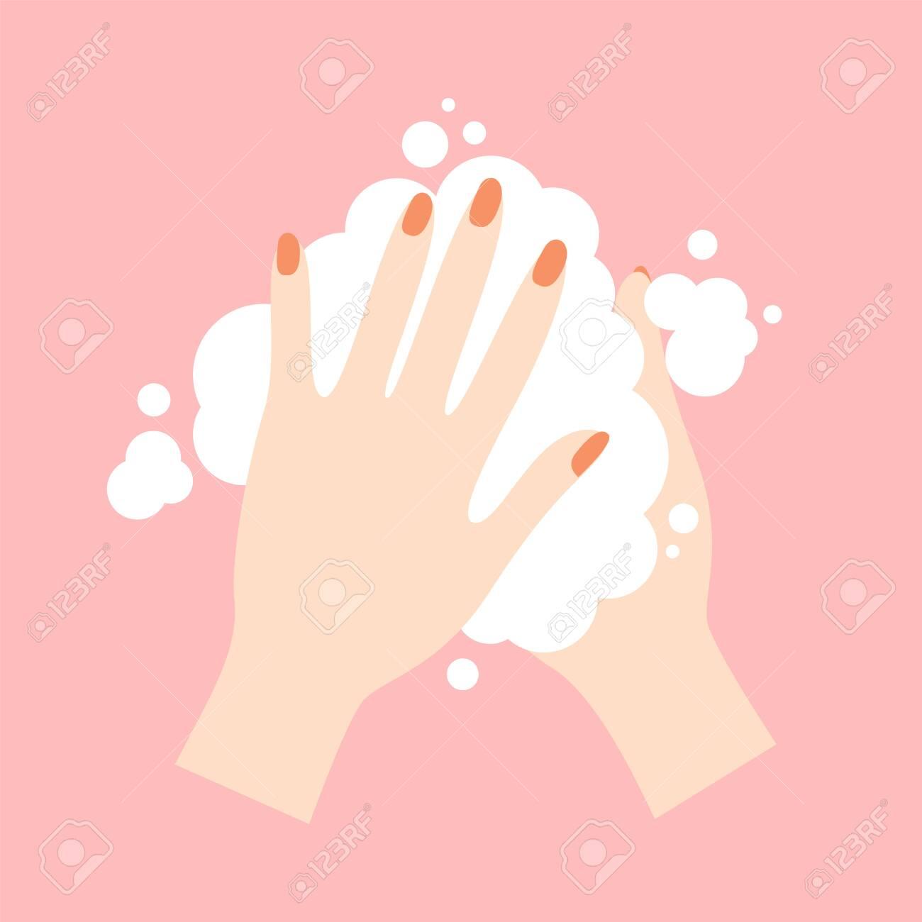 Wash your hands. Cute cartoon vector illustration - 145027573