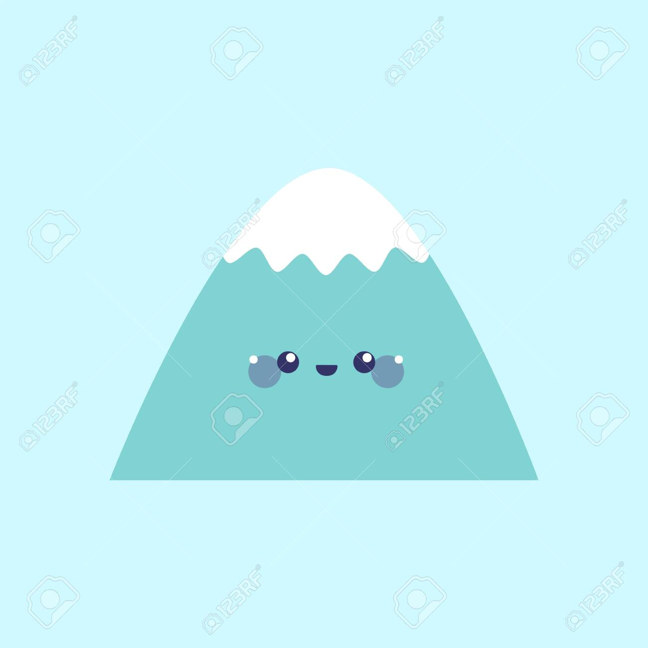 Cute mountain. Simple vector illustration in flat style - 149658410