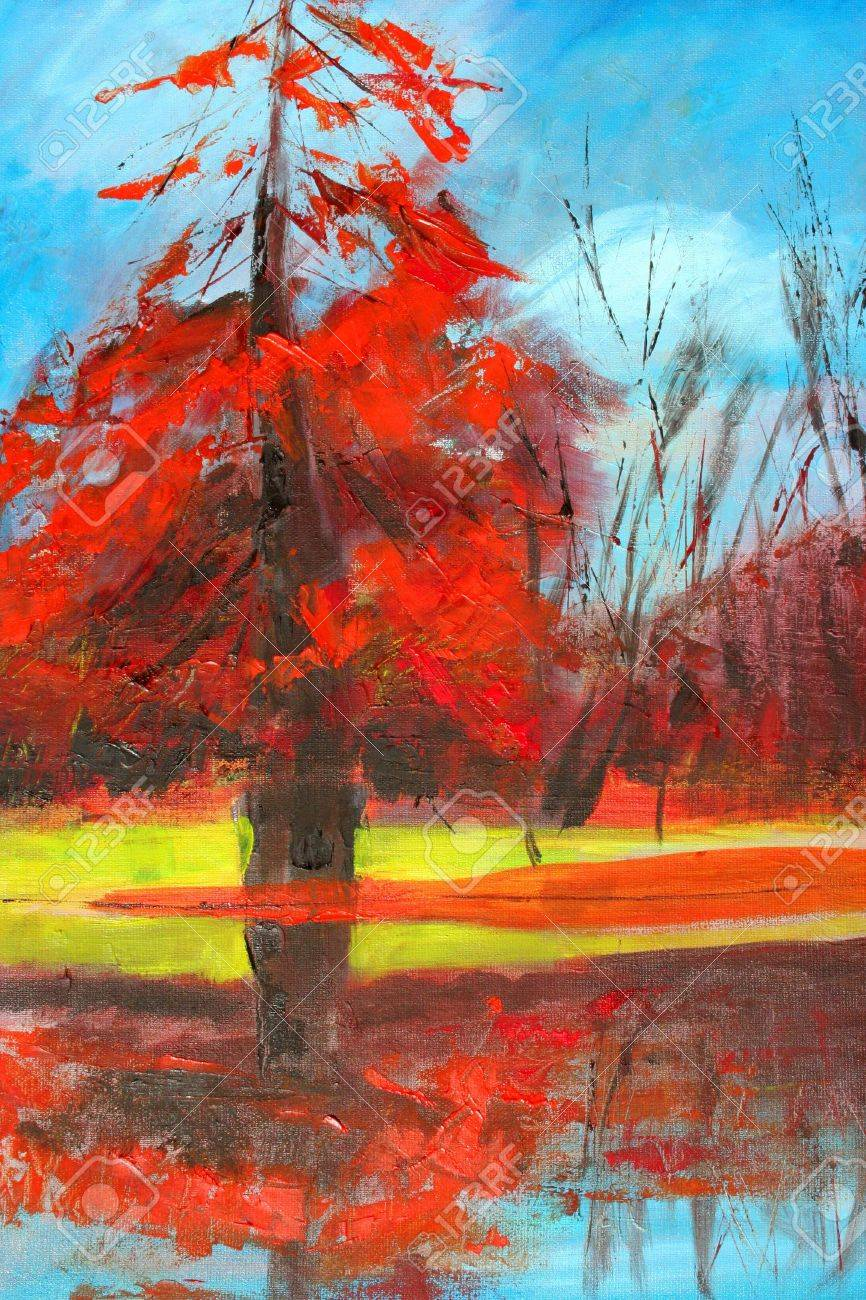 nature painting as background Stock Photo - 5123935
