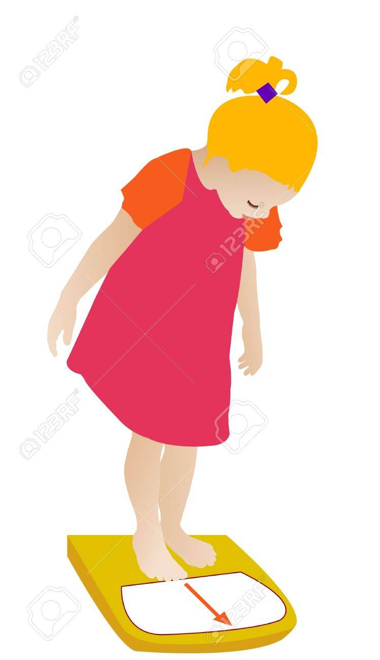 Checking Her Weight Vector Royalty Free Cliparts Vectors And Stock Illustration Image 14962343