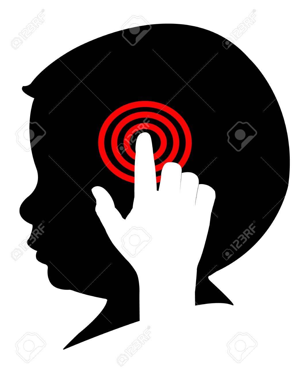 control on human brain Stock Vector - 18104834