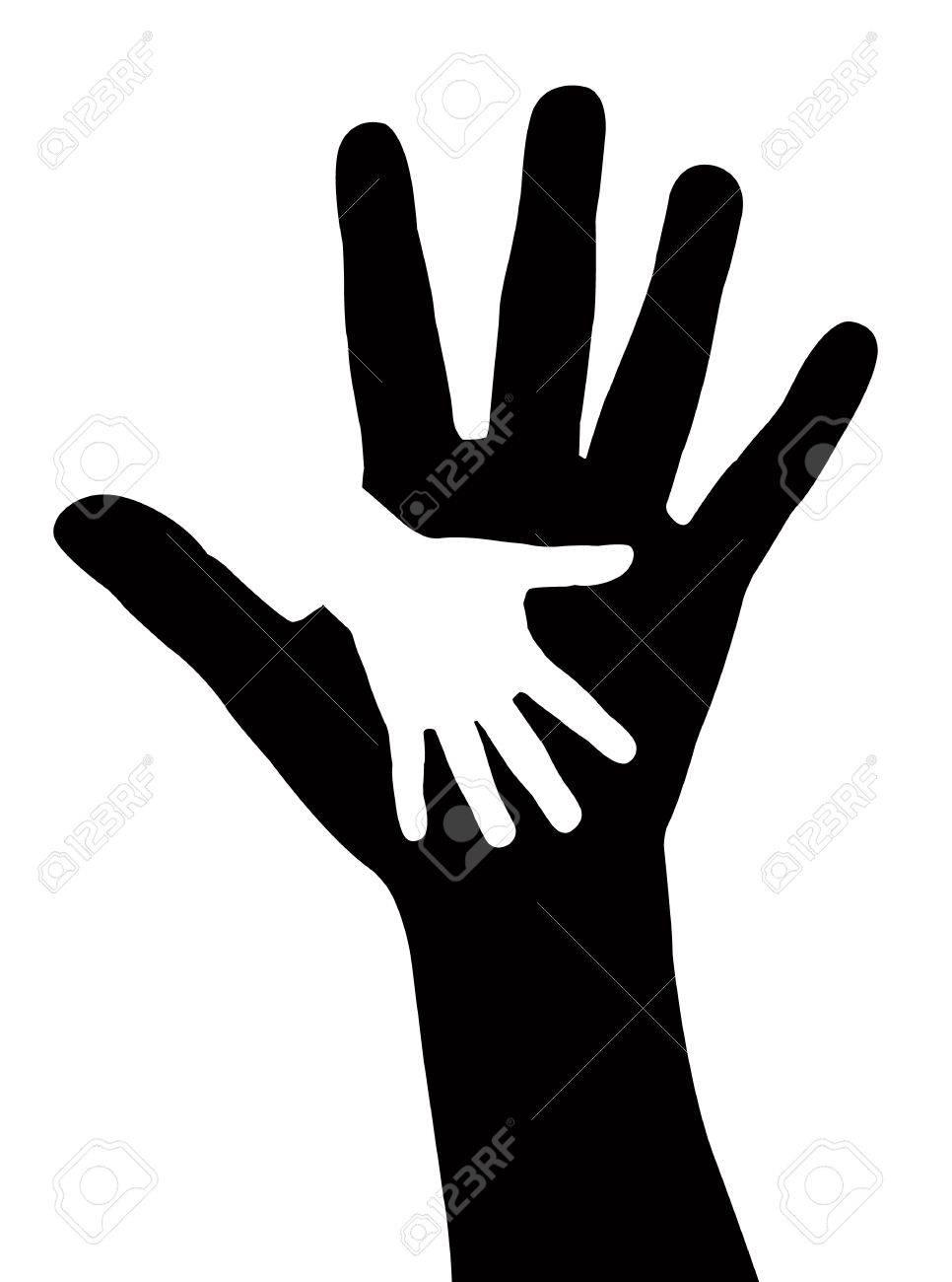 黒の背景に救いの手イラストのイラスト素材ベクタ Image 18963965