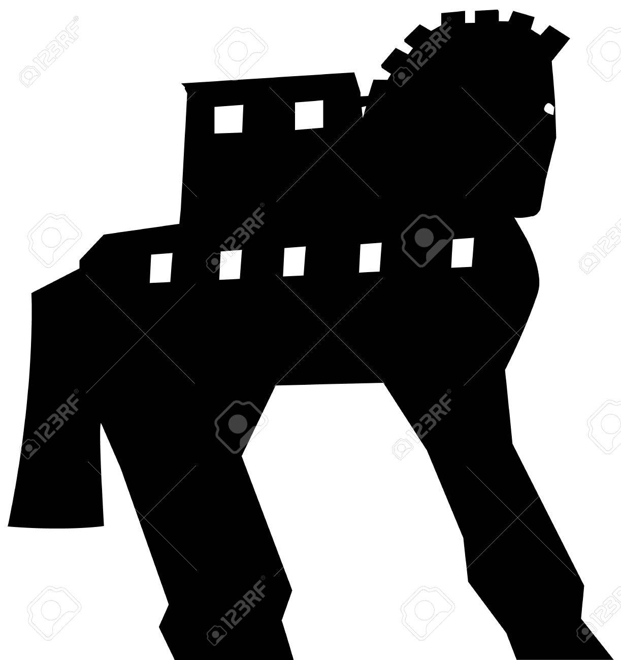 Trojan Horse Silhouette Vector Royalty Free Cliparts Vectors And Stock Illustration Image 25249495