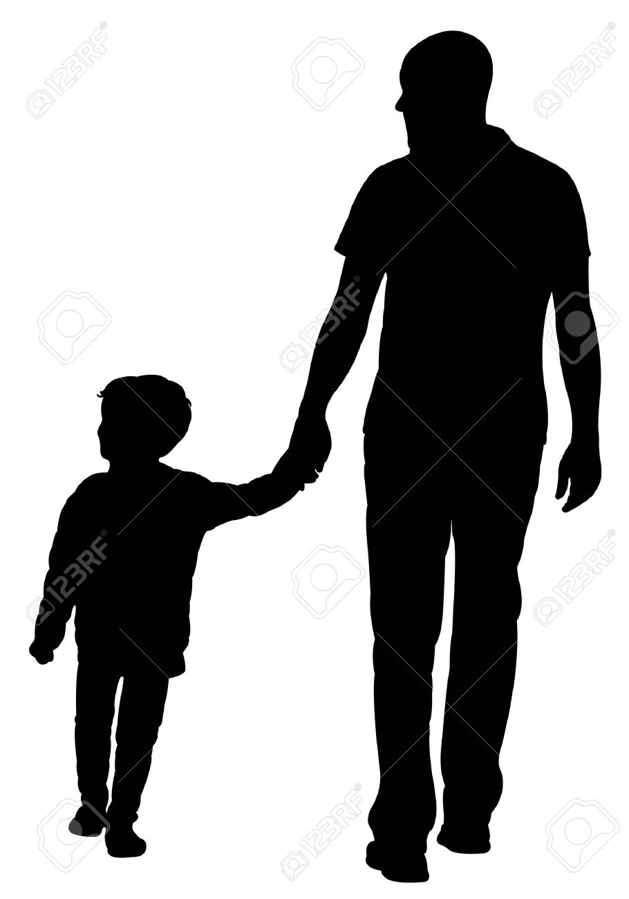 father and son walking silhouette vector royalty free cliparts rh 123rf com silhouette vector art silhouette vector files free