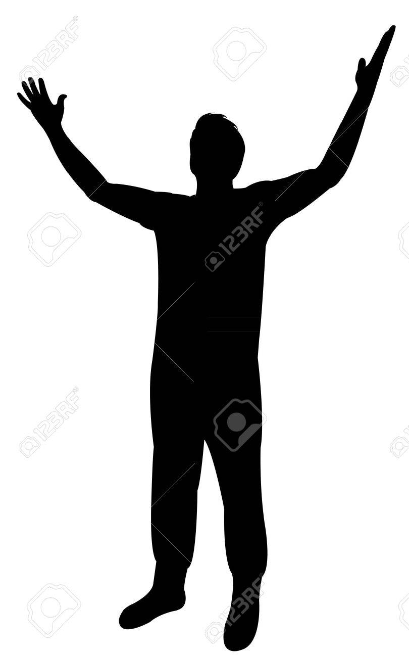 man arms open feeling, silhouette vector royalty free cliparts, vectors,  and stock illustration. image 60150369.  123rf