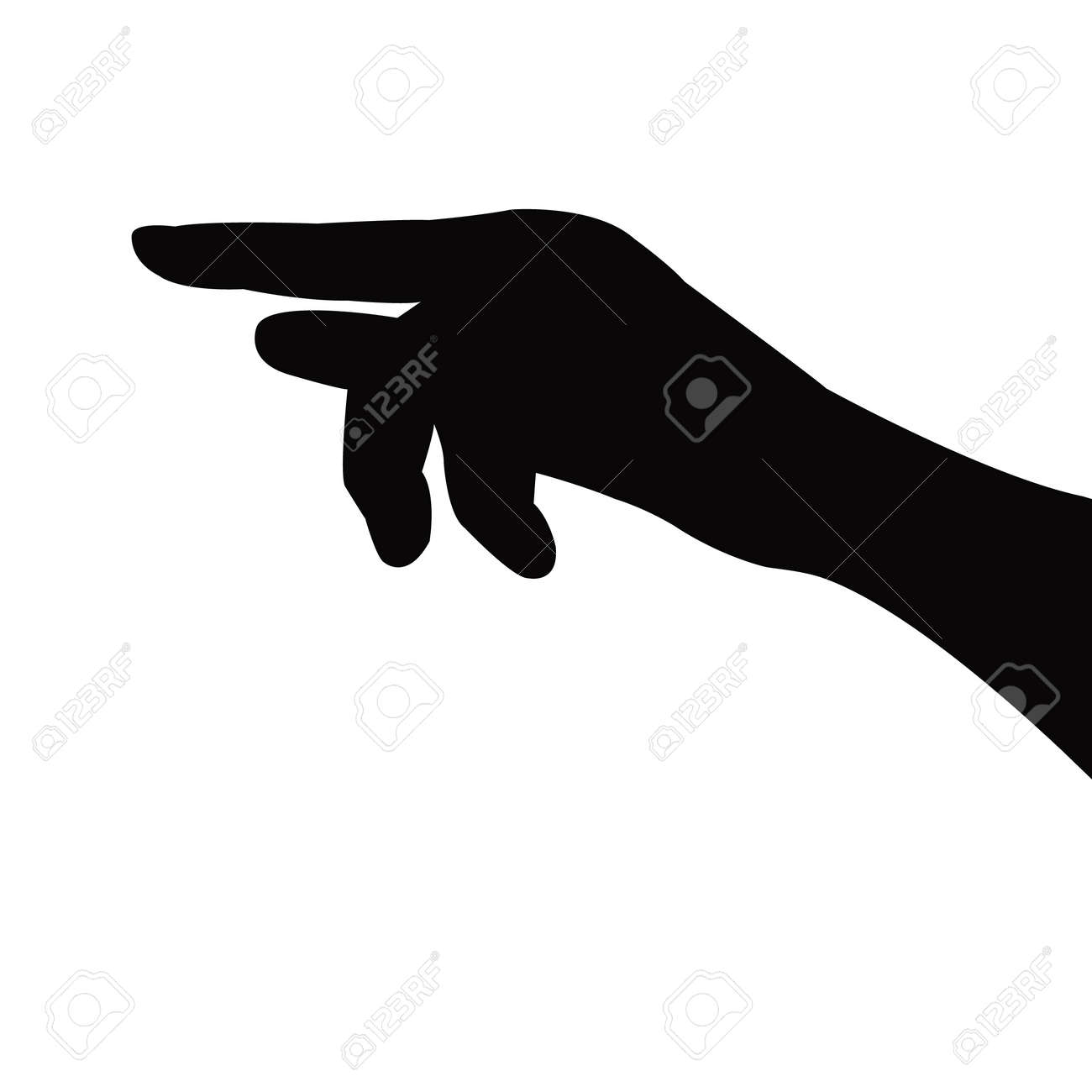 a hand silhouette vector - 148293349