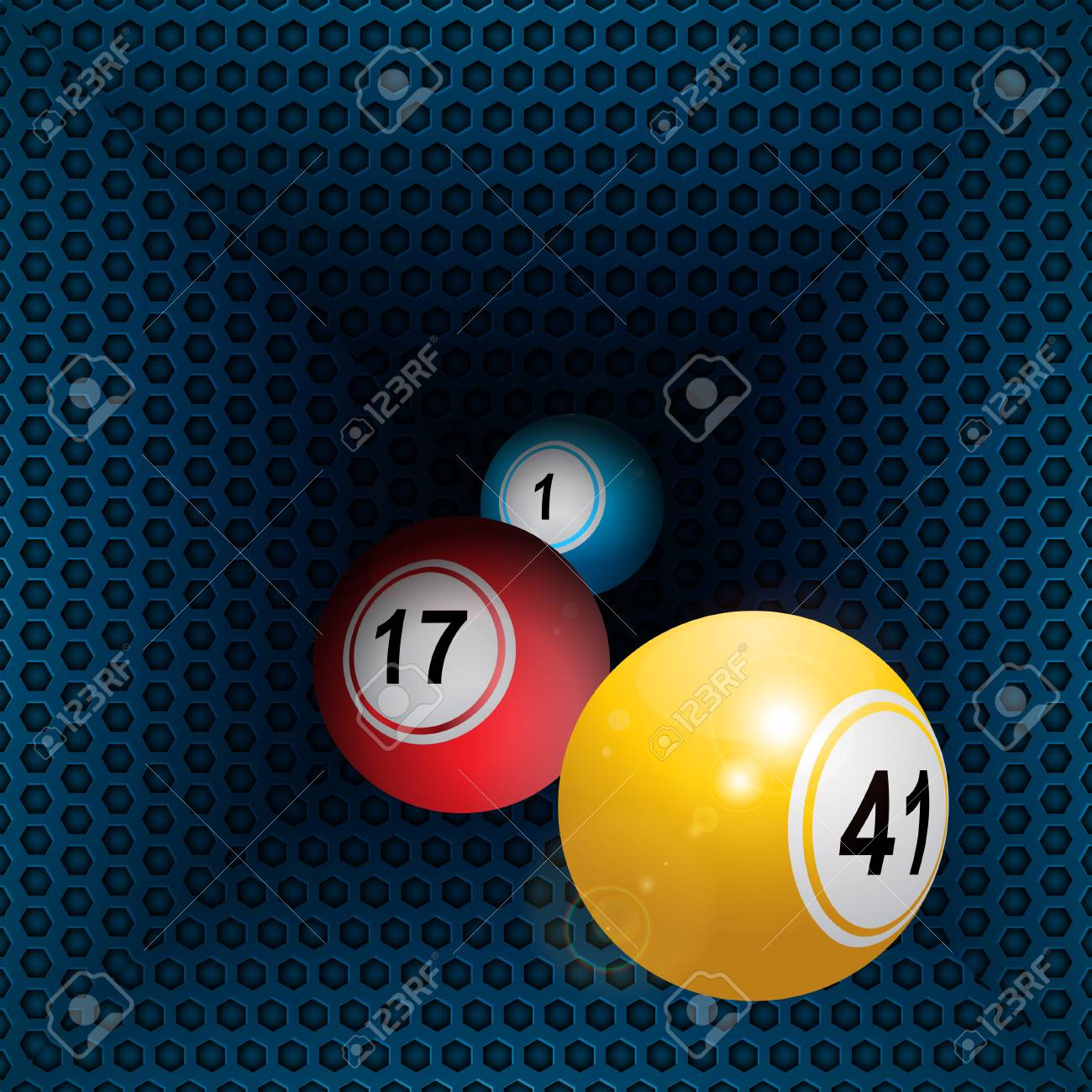 Three D Bingo Balls Rolling Out From Metallic Honeycomb Tunnel - Honeycomb pool table