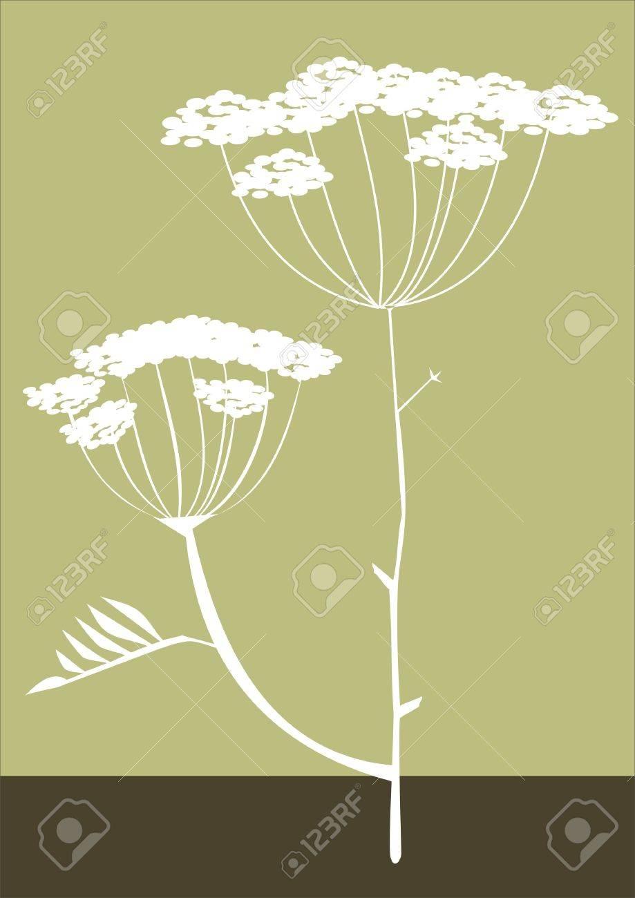 Herbs silhouette background vector Stock Vector - 3639003