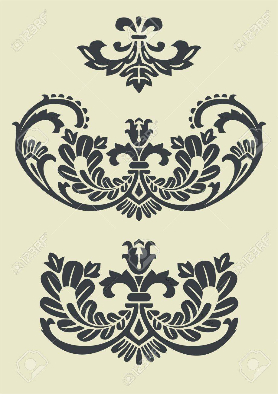 Set of vector baroque patterns for design Stock Vector - 4121905