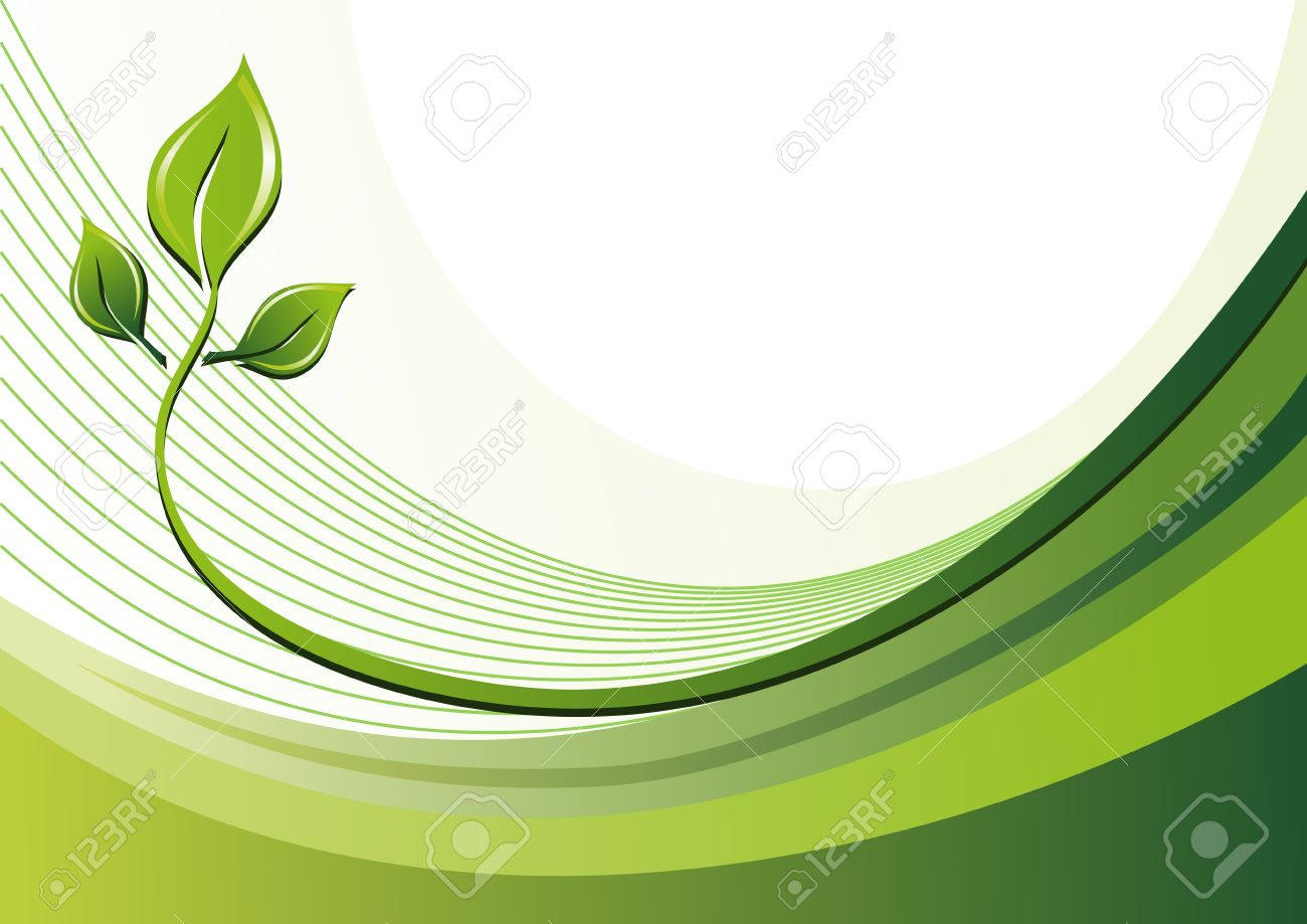 Nature eco background and leaves Stock Vector - 4188051