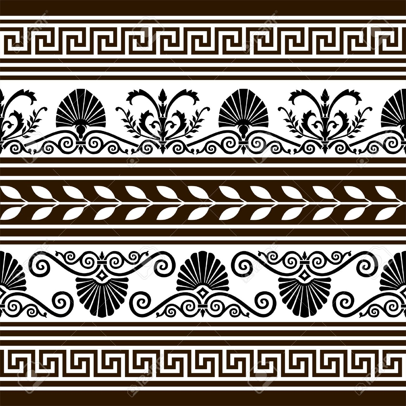 Set of antique vector elements and borders - 4544416
