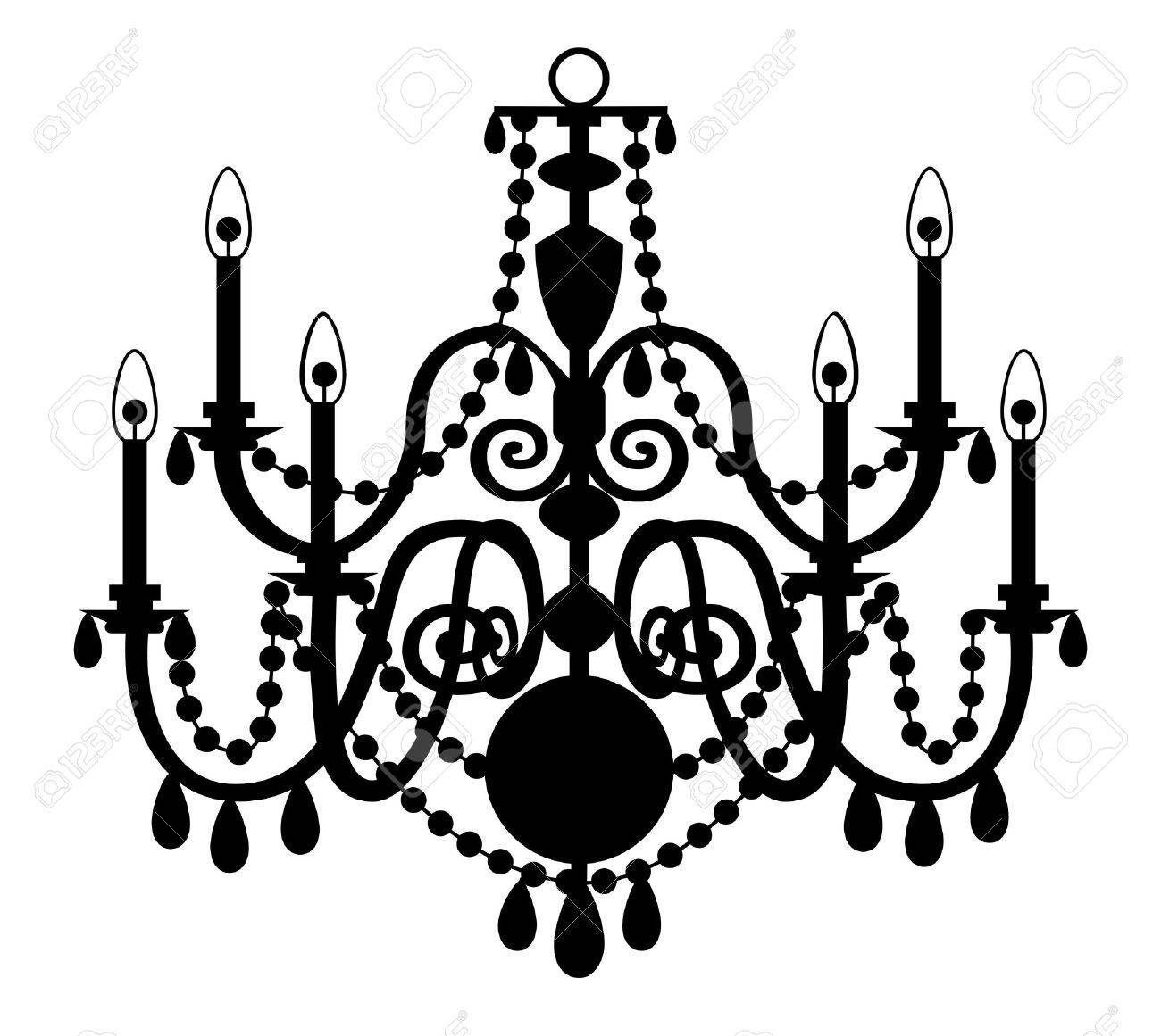 Vector chandelier isolated on the white background royalty free vector vector chandelier isolated on the white background arubaitofo Gallery