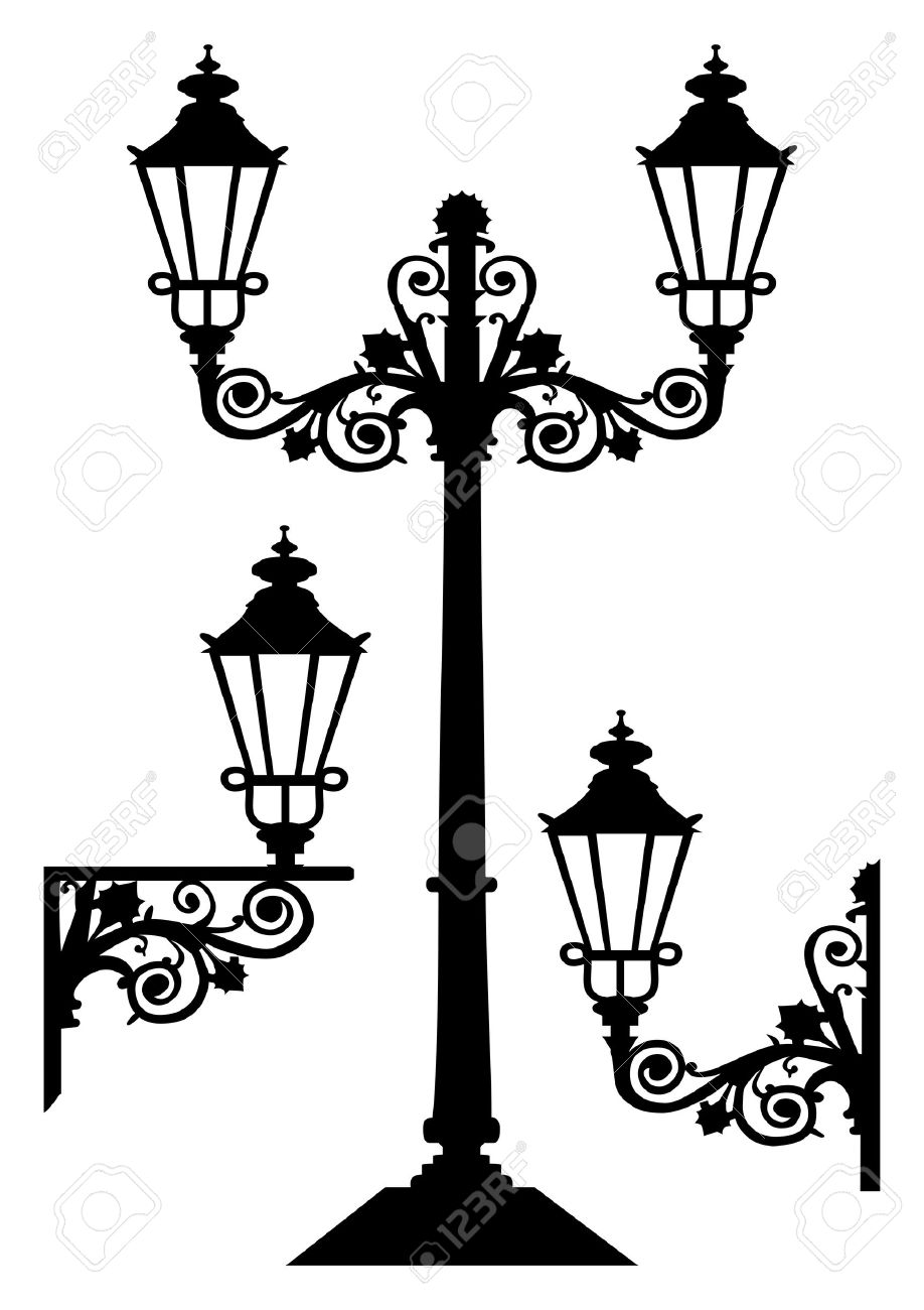 Antique Vector Street Lights Royalty Free Cliparts, Vectors, And ... for Street Lamp Post Vector  146hul