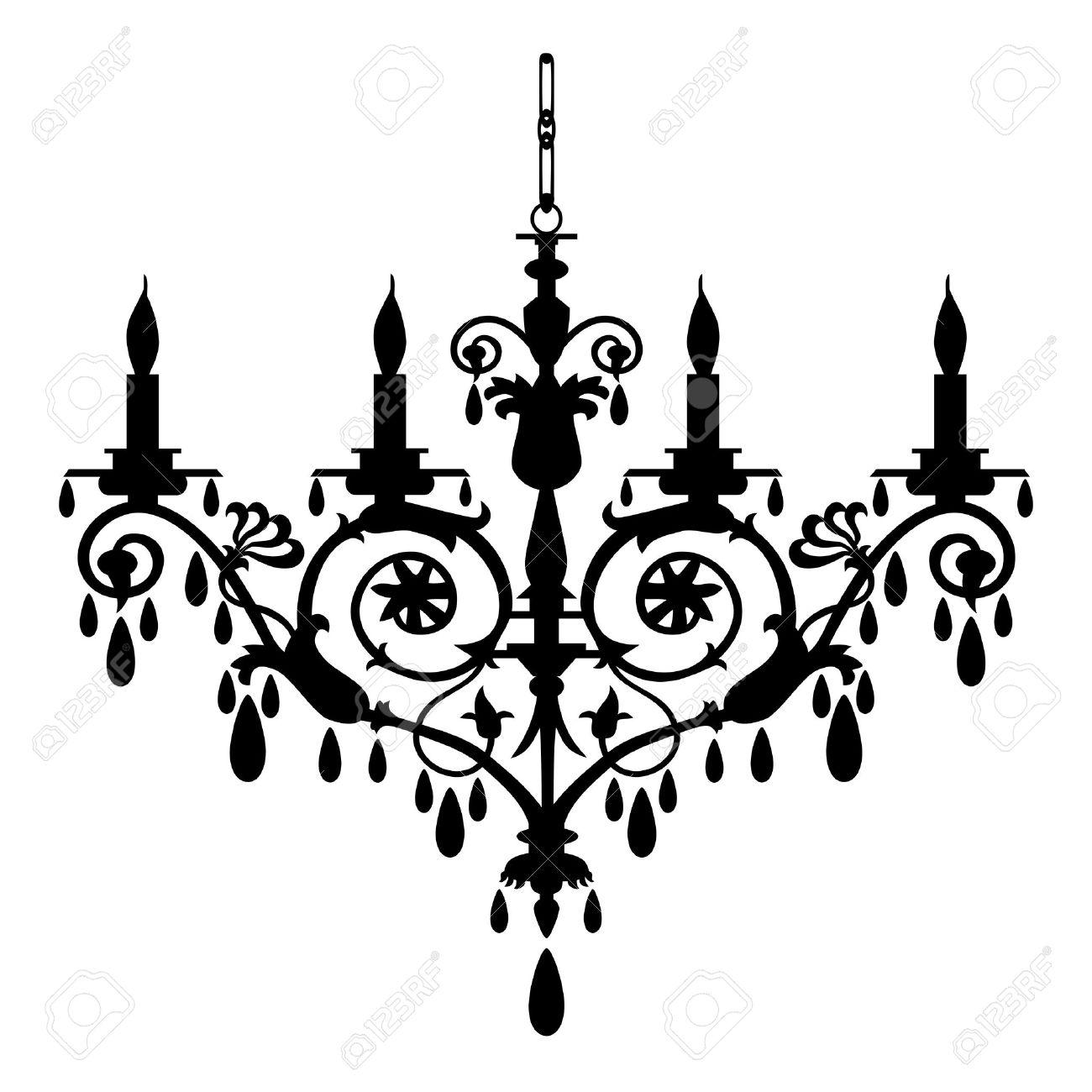 Retro chandelier silhouette royalty free cliparts vectors and retro chandelier silhouette stock vector 5784765 arubaitofo Gallery