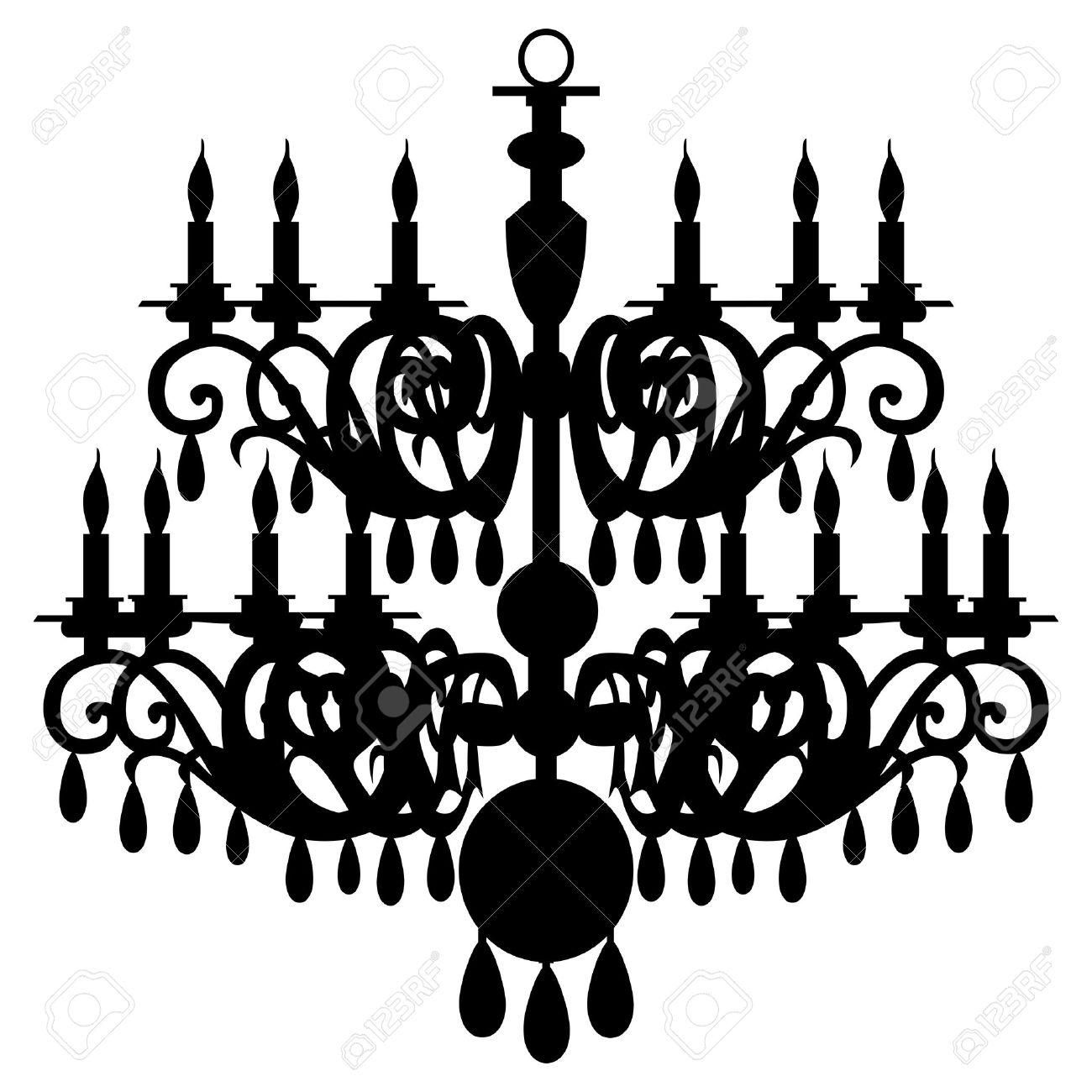 chandelier silhouette - 6047310