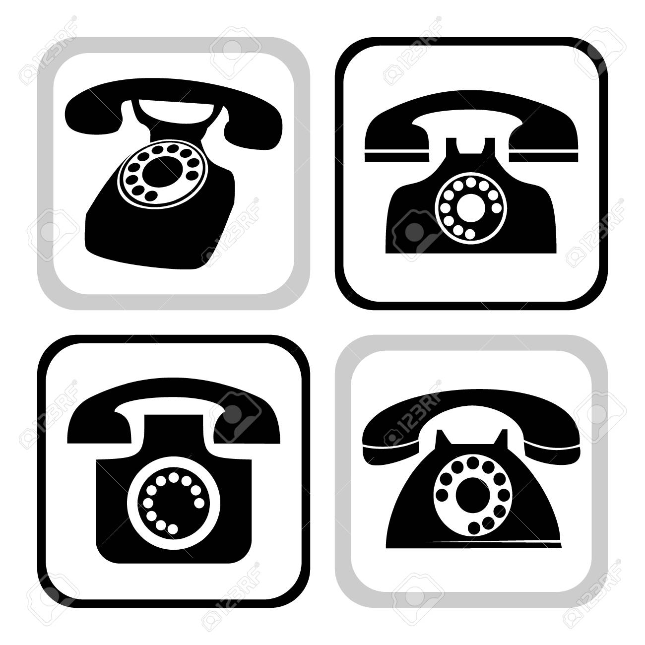 telephone collection Stock Vector - 6950873