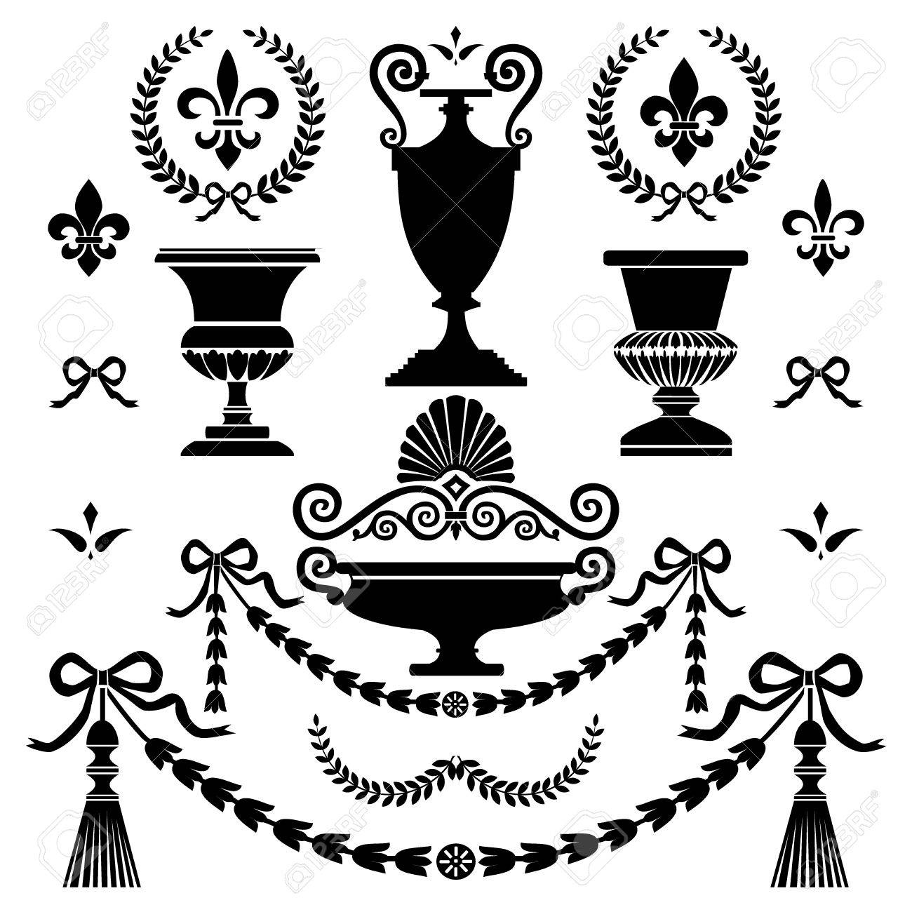 Victorian Design Elements classic style design elements royalty free cliparts, vectors, and