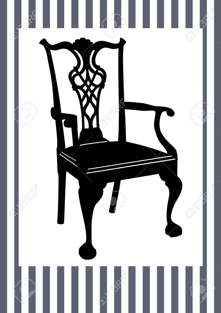 Antique chair silhouette - Antique Chair Stock Vector 9721551