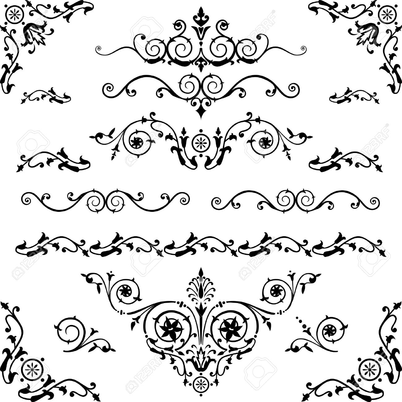 Victorian Design Elements vintage design elements royalty free cliparts, vectors, and stock
